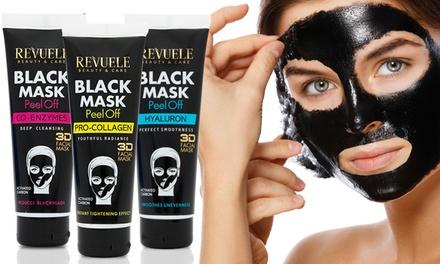 1 ou 2 masques noirs peel off au charbon actif