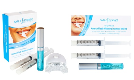 Kit de recarga o kit de 5 unidades Smile Science para tratamiento de blanqueamiento dental normal o avanzado