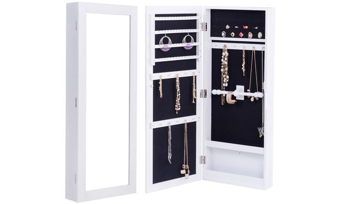 schmuckschrank mit spiegel groupon goods. Black Bedroom Furniture Sets. Home Design Ideas