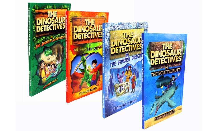the dinosaur detectives 4 books groupon goods