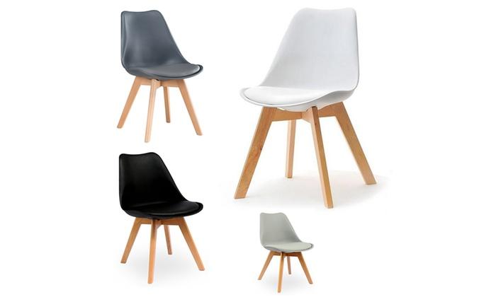 Lot De 2 Ou 4 Chaises Design Scandinave