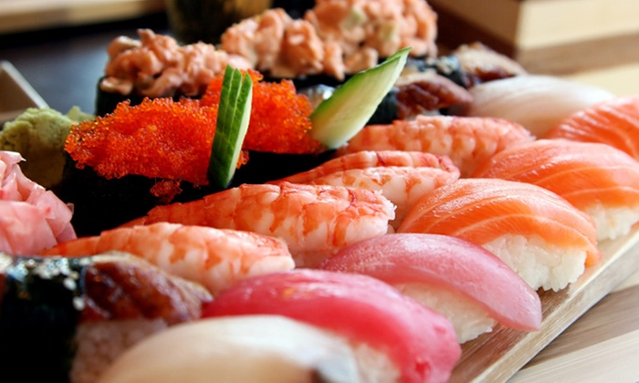 Mizumi Hibachi and Sushi - Old Irving Park: All-You-Can-Eat Sushi Meals with House Sake Drinks for Two or Four at Mizumi Hibachi and Sushi (Up to 40% Off)