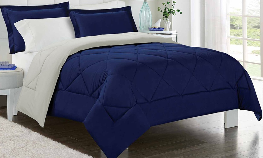 Luxury Home Reversible Comforter Set 2 Or 3 Piece Groupon
