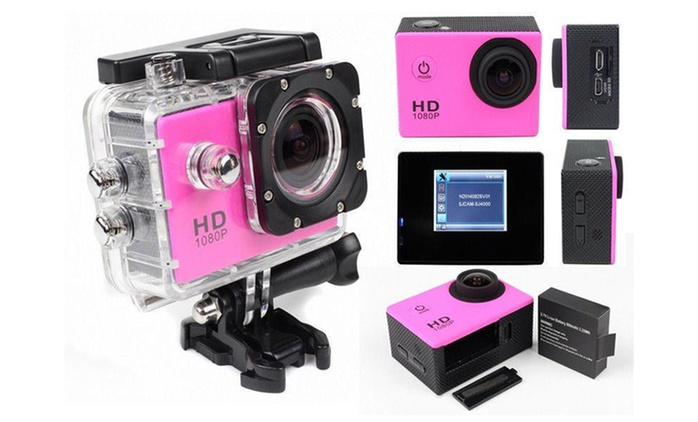 AdventurePro Water-Resistant HD720p or HD1080p Sports Camera from €22.99 With Free Delivery