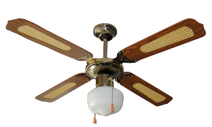 Ventilatore da soffitto a 4 pale groupon goods - Ventilatore da soffitto design ...
