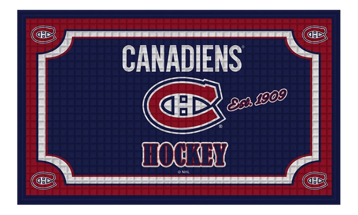 Up To 48 Off On Nhl 18 Quot X30 Quot Embossed Door Mat Livingsocial Shop