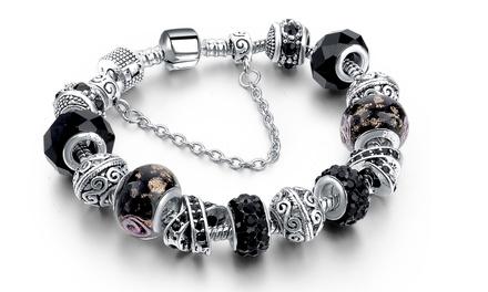 Bracciale con cristalli Swarovski® placcato in argento disponibile in vari modelli a 12,90 €