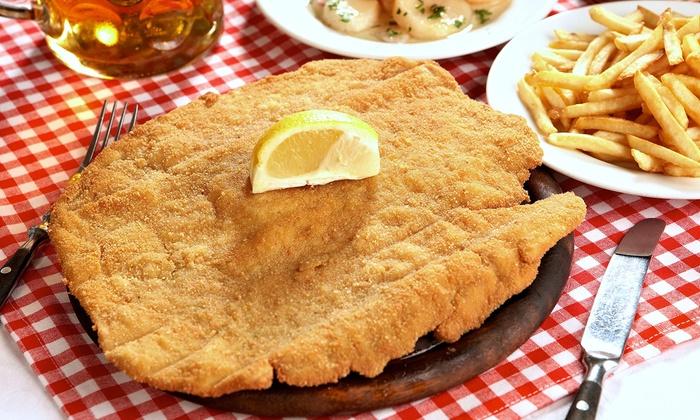Vogelweide Restaurant - Berlin: Original Wiener-Schnitzel für 2 oder 4 Personen im Restaurant Vogelweide (bis zu 39% sparen*)