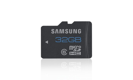 groupon daily deal - 1 or 2 Samsung 32GB Micro-SDHC High-Speed Class 6 Memory Cards from $19.99–$34.99. Free Returns.