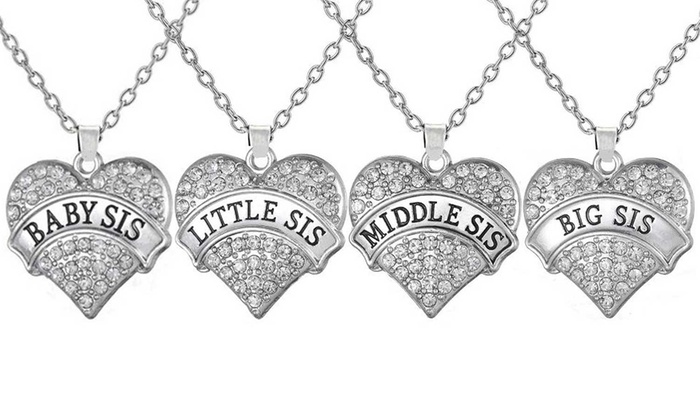 Crystal Sister Necklace in Choice of Design From £3.49