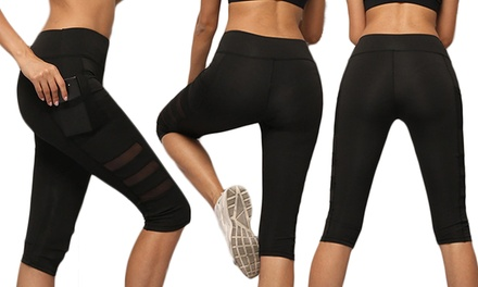 1 ou 2 leggings pantacourt de compression pour le sport