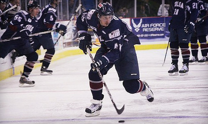 Tulsa Oilers - Multiple Locations: Tulsa Oilers Hockey Game for Two or Four at the BOK Center (Up to 54% Off). Five Games Available.