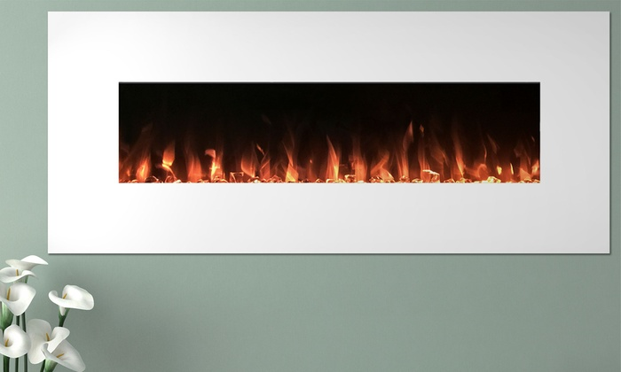 Northwest 50'' Wall-Mounted Color-Changing Electric Fireplace: Northwest 50' - Northwest Electric Fireplace Groupon Goods
