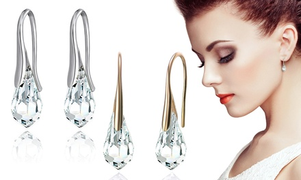 One or Two Pairs of Mestige Drop Earrings with Crystals From Swarovski® With Free Delivery