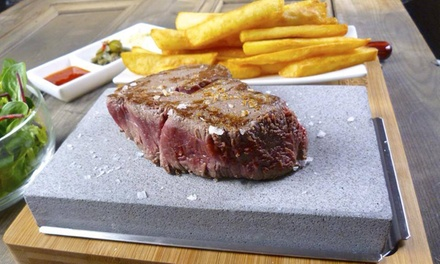 Stone Steak Meal with Glass of Prosecco Each for Two or Four at La Barbacoa