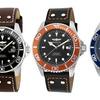 Invicta Pro Men's Leather Diver Watch