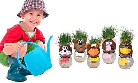 Muñecos cabeza crece hierba