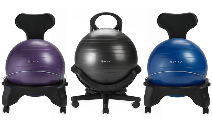 Marvelous Up To 20 Off On Gaiam Balance Ball Chairs Groupon Goods Caraccident5 Cool Chair Designs And Ideas Caraccident5Info