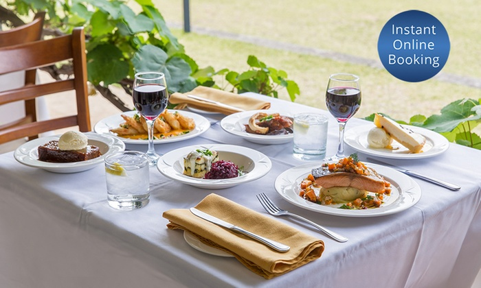 Lachlan's Old Government House - Parramatta: 3-Course Dinner with Bottle of Wine for 2 ($89), 4 ($175) or 6 ($199) at Lachlan's Old Government House (Up to $561)