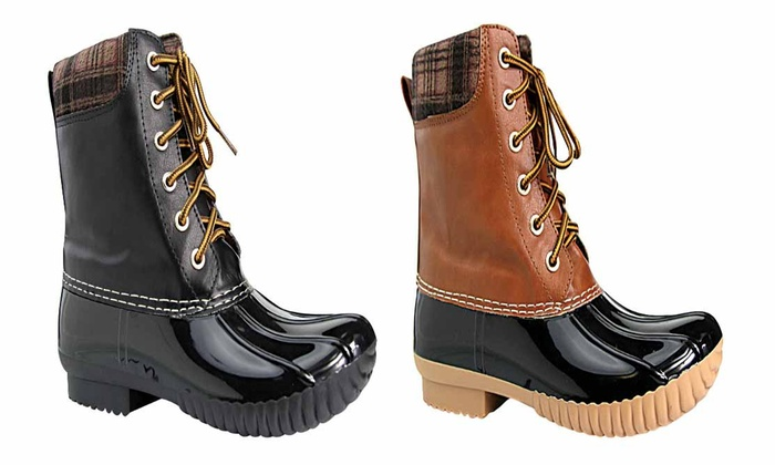 Mata Shoes Women's Lace-Up Duck Winter Boots