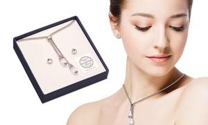 (Bijou)  Parure bijoux ornée de cristaux Swarovski® -75% réduction