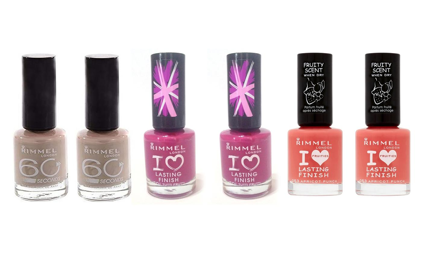 Rimmel 60 Seconds or I Love London Nail Varnish Two-Pack
