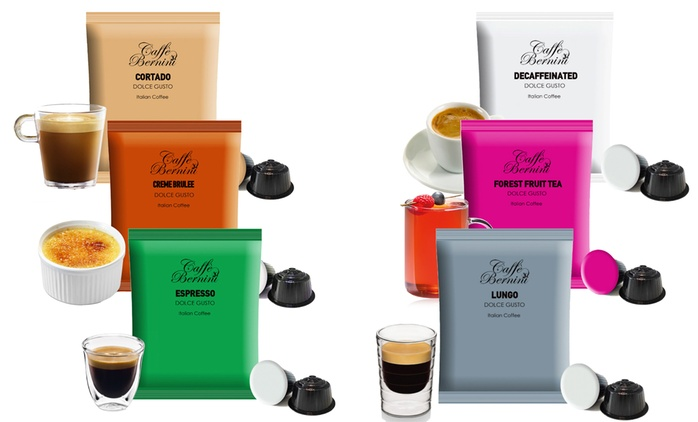 96 Caffé Bernini Coffee Capsules, Compatible with Dolce Gusto from €24.99