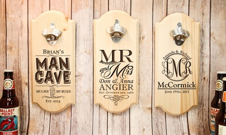 Personalised Wall-Mounted Bottle Opener: One ($16.95) or Two ($32.95) (Don't Pay up to $96.60)