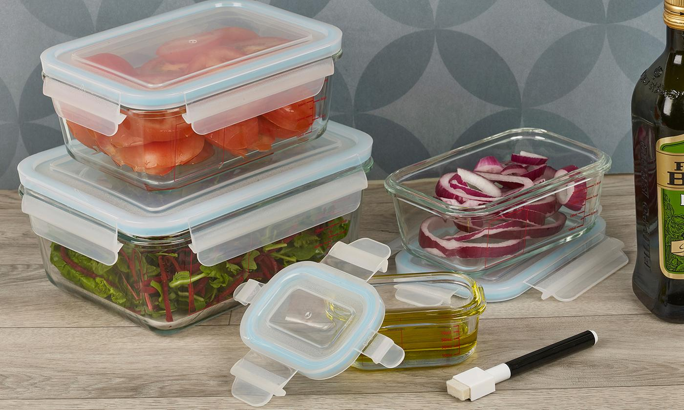Up to 16-Piece Homiu Oven-Safe Glass Food Container Sets