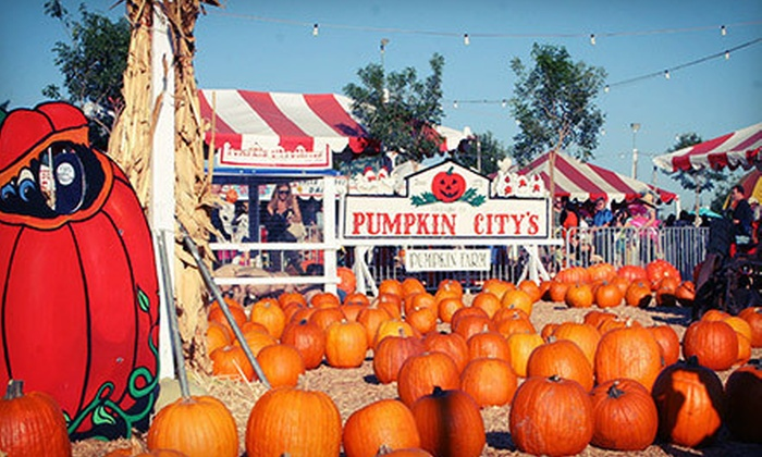 Pumpkin City's Pumpkin Farm - Los Angeles: $29 for Day of Fun with Rides, Petting Zoo, and Pumpkin Credit at Pumpkin City's Pumpkin Farm (Up to $60.20 Value)