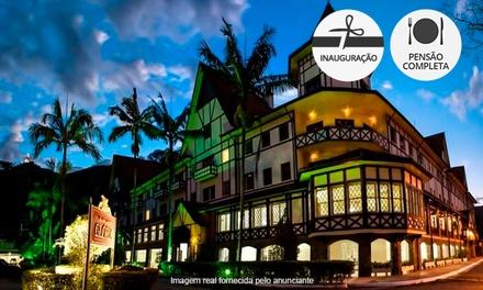 Águas de Lindoia/SP: 2, 3 ou 4 noites a 2 (opções feriados) + pensão completa no Grande Hotel Glória