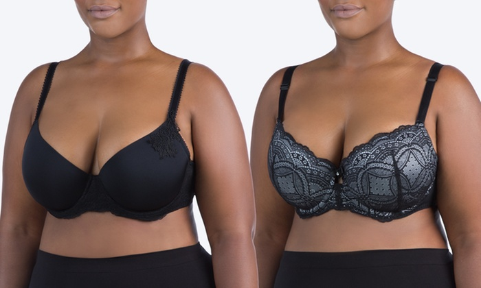 f7f3b19abea Buy 1 Get 1 Free  Sociology Women s Full-Figure Micro and Lace Bra