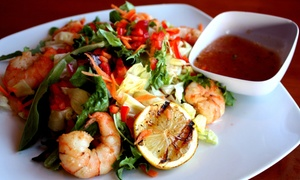 Ocean Blue Caribbean Restaurant and Bar: Caribbean Cuisine at Ocean Blue Caribbean Restaurant and Bar (Up to 45% Off). Two Options Available.