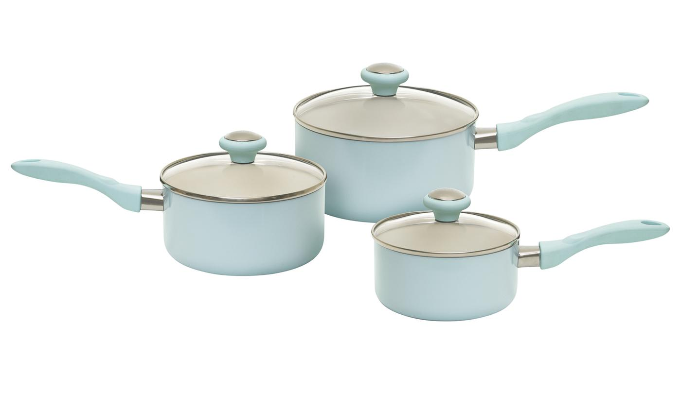 Prestige Three-Piece Saucepan Set
