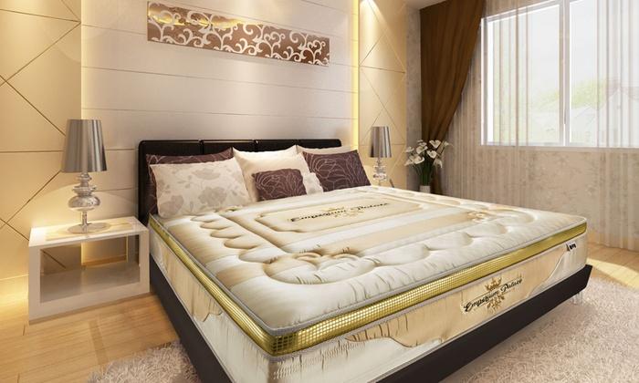 Groupon Goods Global GmbH: Matelas mémoire de forme luxe hôtellerie Sampur Emporium Palace 32 cm série limitée unique et numérotée