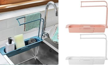 Telescopic Sink Rack Drain Basket