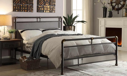 Cambridge Industrial Scaffold Bed with Optional Mattress With...