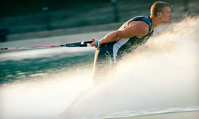 World Barefoot Center - Rochelle Gardens: Half Day of Barefoot Water-Skiing for One or Two with Wetsuit and Coaching at World Barefoot Center (Up to 55% Off)