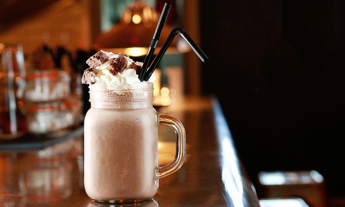 Creme Cafe & Dessert Parlour - Glasgow: Large Chocolate Bar Milkshake for Two at Creme Cafe & Dessert Parlour (Up to 37% Off)