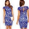 Women's Knee-Length Lace Dress (Size S)