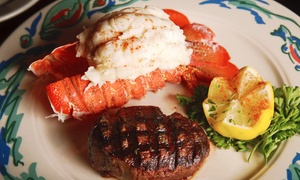 Chappell's Coral Grill: Seafood and Steak at Chappell's Coral Grill (Up to 40% Off). Four Options Available.