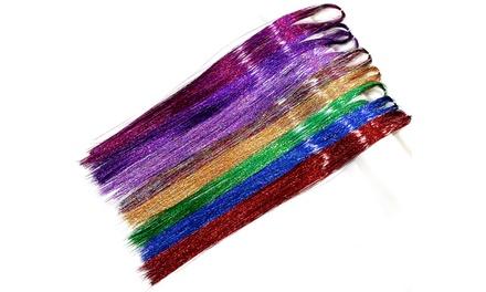 Fino a 3 Tinsel extensions per capelli disponibili in vari colori
