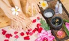 Sammy's Nail Spa - Salon by JC: 1 or 2 Manicures with Hot Stone Pedicure or Jelly Pearl Hot Stone Pedicures at Sammy's Nail Spa (Up to 44% Off)