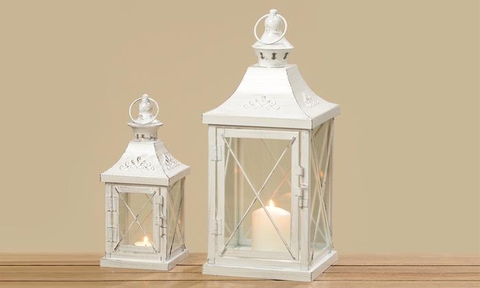 Lanterne Bianche Da Esterno.2 Lanterne Bianche Groupon