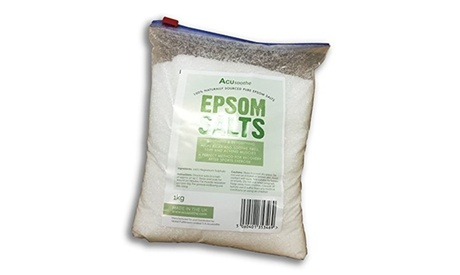 1 o 2 kilos de sal de baño Acusoothe Epsom 100% origen natural
