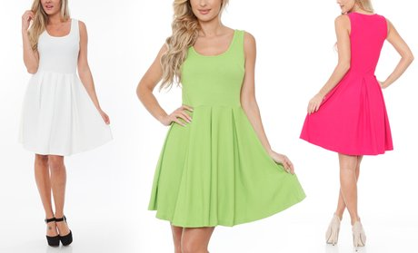 Women's Crystal Fit and Flare Dress