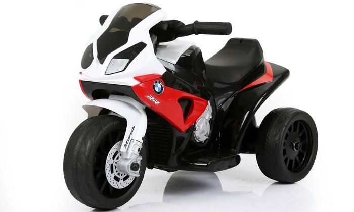 TitoloMotocicletta elettrica BMW per bambini disponibile in 3 colori