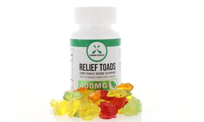 Relief Toads CBD Gummies from Green Roads (400mg)