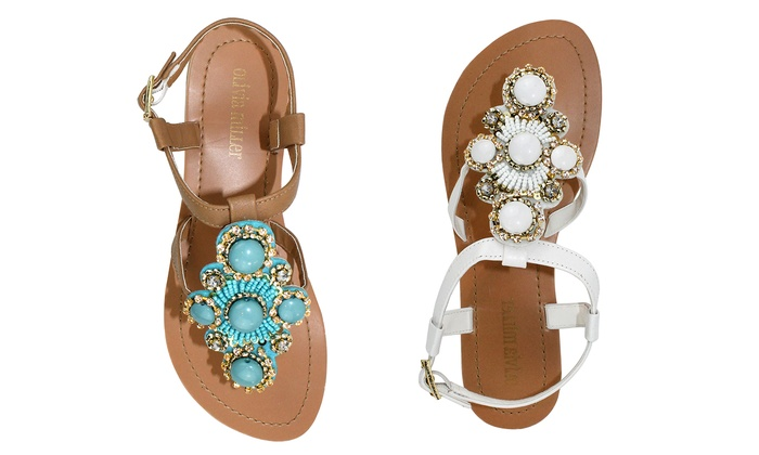617a88536c18 Olivia Miller Rhinestone Sandals