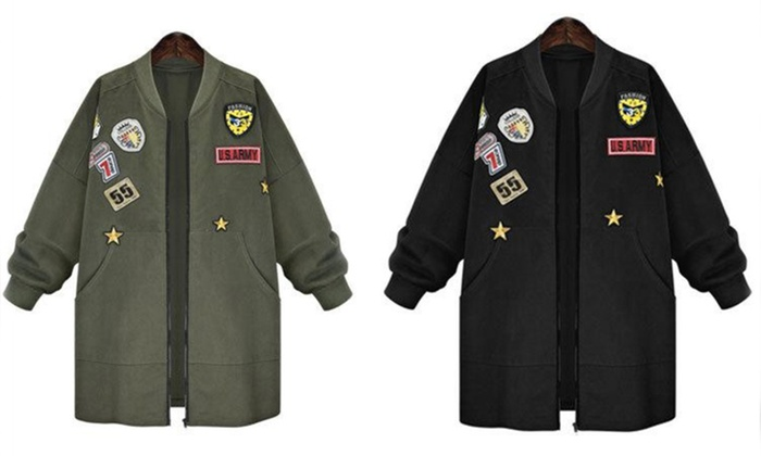 Women s Army-Style Jacket ... 104a0cf8d0